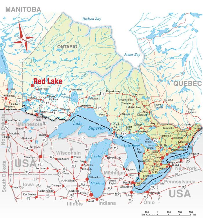 red lake ontario map More Information Sunset Lodge On Red Lake red lake ontario map